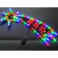 LED vianočná kométa - viacfarebná RGB