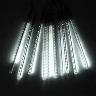 LED vianočné osvetlenie meteor, 8ks, padajúce hviezdy, IP20, studená biela 3x AA batery