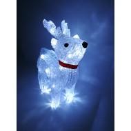 LED vianočný sob - svetelná dekorácia, studená biela