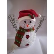 LED vianočný snehuliak - svetelná dekorácia, RGB - viacfarebný