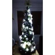 Vianočný stromček s ozdobami a LED svetielkami ZDARMA - 100cm