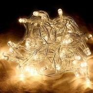 LED vianočné osvetlenie, 10m reťaz, 100xLED, IP20 teplá biela