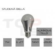 Žiarovka LED 7W bulb, E27, studená biela