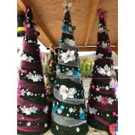 Vianočný stromček s ozdobami a LED svetielkami ZDARMA - 180 cm, modrostrieborný