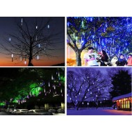 LED vianočné osvetlenie meteor,  8ks, padajúce hviezdy, studená biela