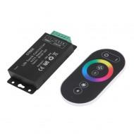 Dotykový RF diaľkový ovládač pre led pásiky, 2,4GHz, 18A