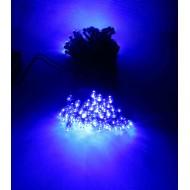 LED vianočné osvetlenie solárne, 12m reťaz, modrá