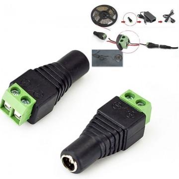 DC konektor medzi LED pásik a adaptér - samica