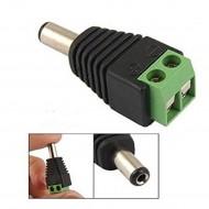 DC konektor medzi LED pásik a adaptér - samec