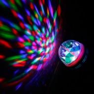 Žiarovka LED 3W disko, E27, viacfarebná
